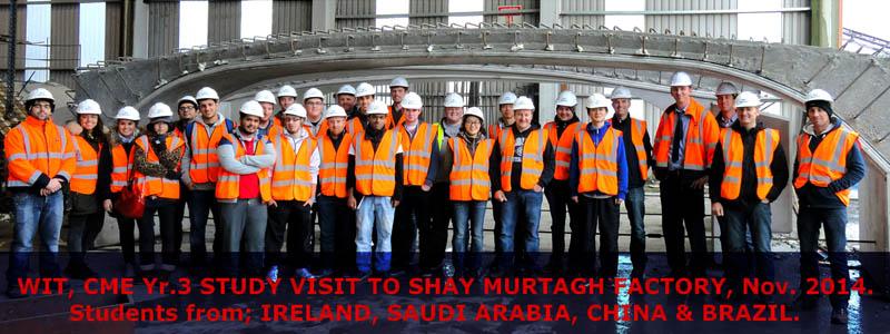 Students visit Shay Murtagh Precast Concrete Factory
